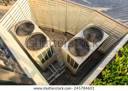 Air conditioning compressor. - stock photo