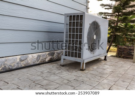 Air conditioning compressor - stock photo
