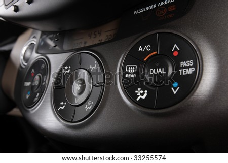 air conditioning control panel - stock photo