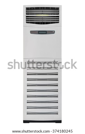 Air conditioning, mobile monoblock, isolated on white background - stock photo