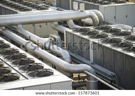 air cooling industrial system - stock photo