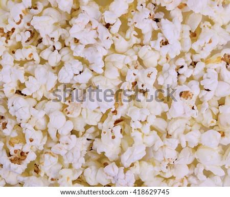Air crunchy popcorn. Background macro texture - stock photo