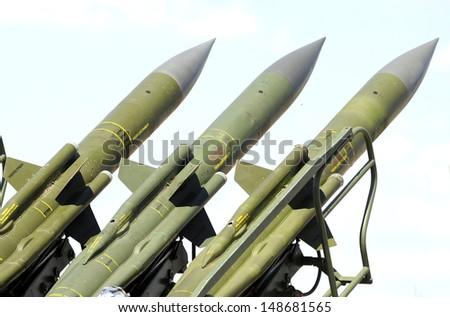 air difense sam missiles - stock photo
