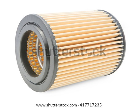 Air filter car motor  isolated on white background - stock photo