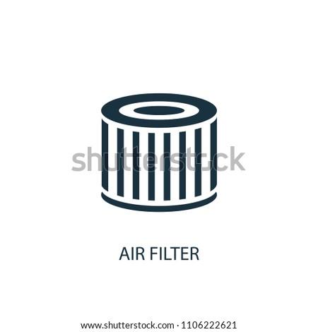 Air Filter Icon Simple Element Illustration Stock Illustration