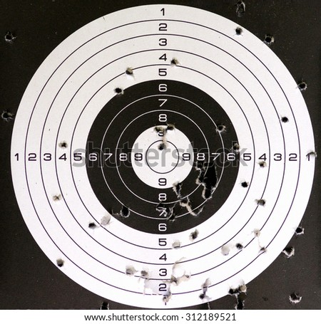 Air gun target - stock photo