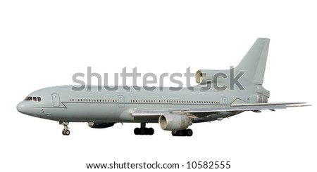 Air liner isolated on a white background