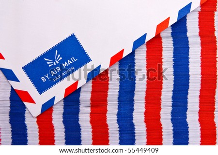 Air mail envelope - stock photo