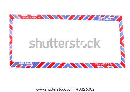 Air Mail envelope in different languages for a border or framed background