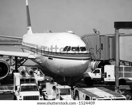 Air Plane parking - stock photo