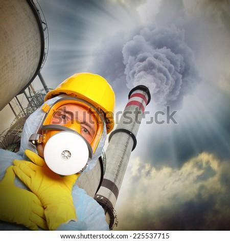 Air pollution.  - stock photo