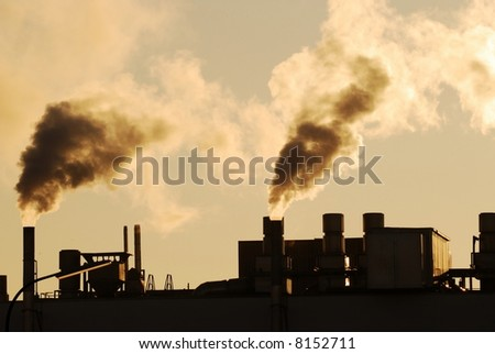 Air pollution by industrial smoke