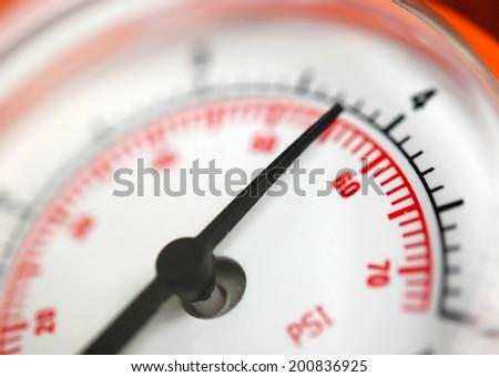 Air pressure gauge - stock photo
