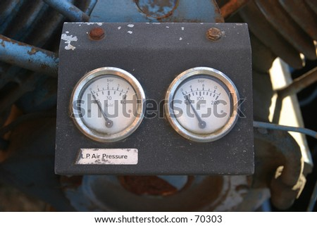 Air Pressure Meters - stock photo