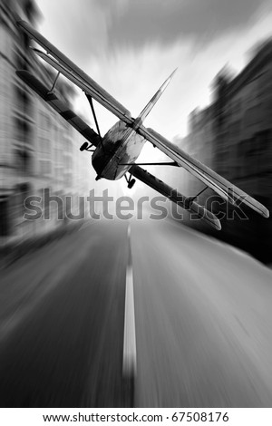 Air road in city - stock photo