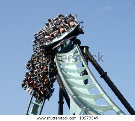Air Rollercoaster - stock photo