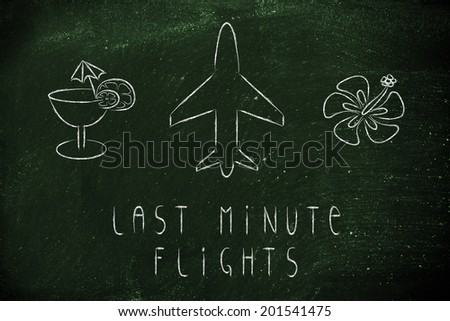air route and plane trail, booking last minute flights