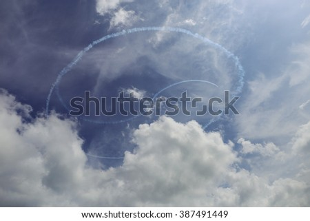 air show performance  - stock photo