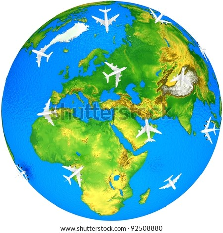 Air traffic - stock photo