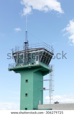 Air traffic control in Lyon-Bron airport, France - stock photo