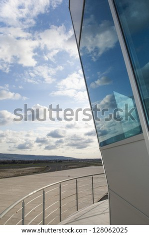 Air traffic control tower - stock photo
