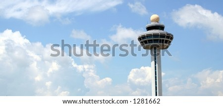 air traffic control tower at changi airport