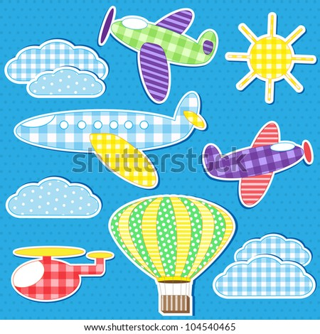 Air transport. Raster version - stock photo