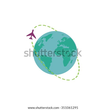 Air travel destination. Colorful pictogram symbol on white background. Simple icon - stock photo