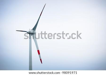 Air turbine against sky - stock photo
