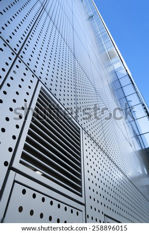 Air vent of a modern architecture - stock photo