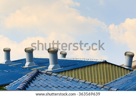 air ventilator on the roof of factory.