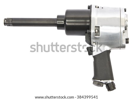 Air wrench on white background - stock photo