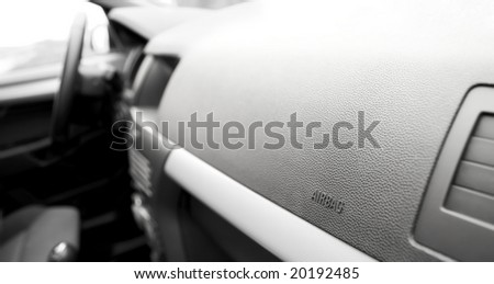 airbag in car - stock photo
