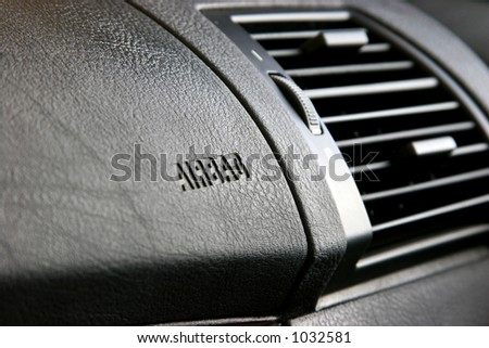 Airbags in a passenger seat, front side. - stock photo