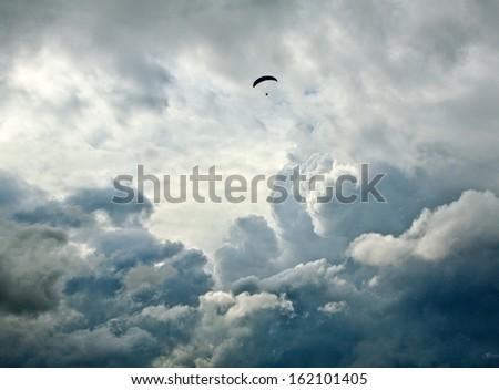 Airborne Paraglide - stock photo