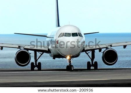Airbus A320 - stock photo