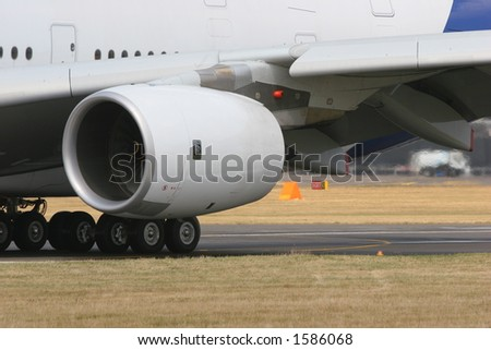 Airbus A380 engine - stock photo