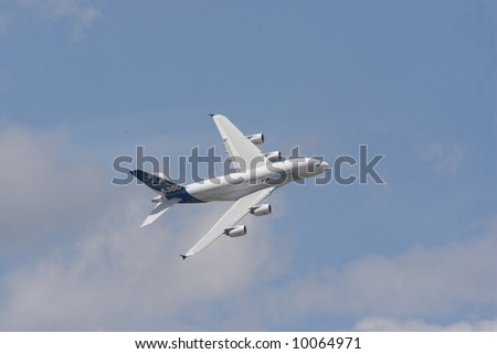 Airbus A380 in the Air