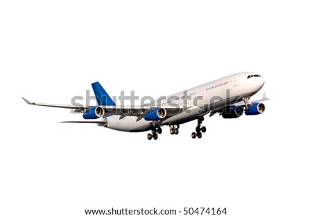 Airbus A-340 on white