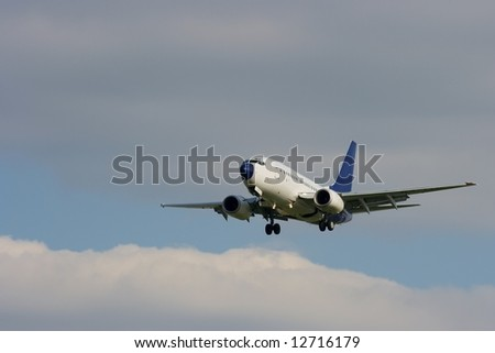 Aircraft about to land - stock photo