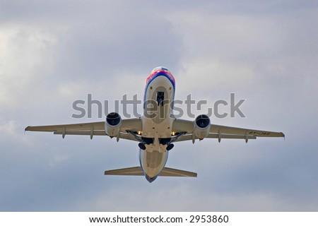aircraft airbus - stock photo