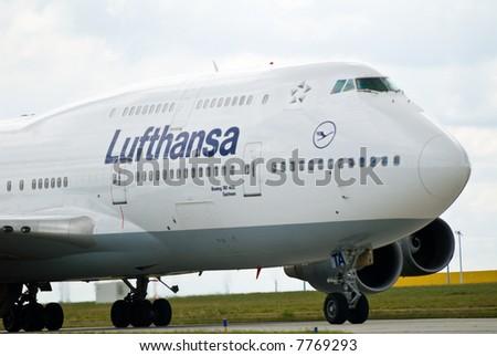 aircraft at airport - stock photo