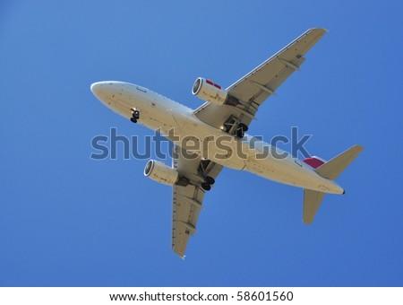 Aircraft at take-off - stock photo