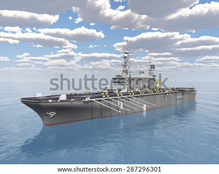 Aircraft Carrier Computer generated 3D illustration - stock photo