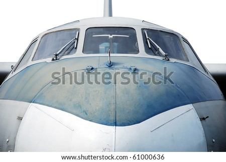 Aircraft, closeup. isolated on white - stock photo
