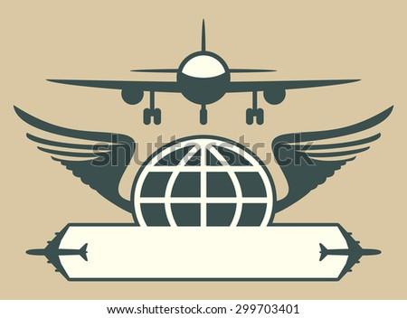 Aircraft emblem - stock photo