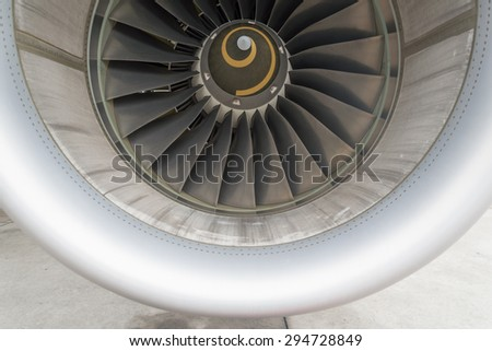 Aircraft engine inlet duct - stock photo