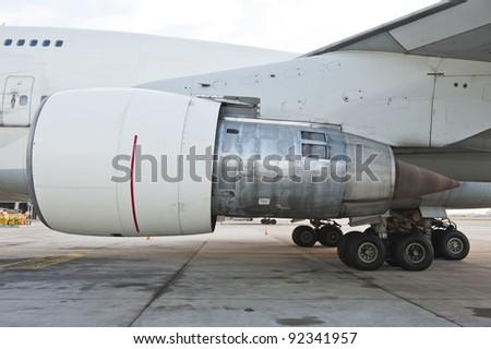 Aircraft Jet Engine - stock photo