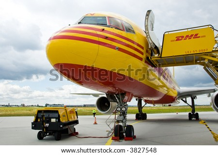 Aircraft on airport - stock photo