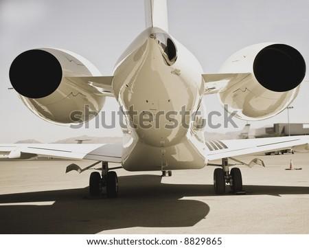 aircraft on runway - stock photo